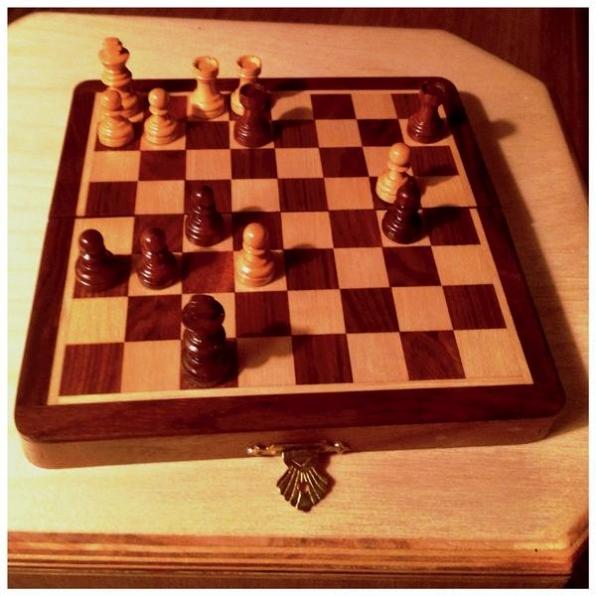 6. He's an avid chess player.