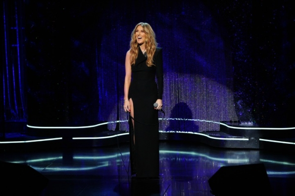 5. Celine Dion stuns the crowd with her show-stopping act.