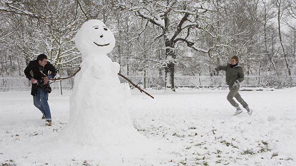 24. Frolic in the snow.