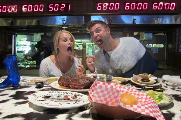 Steak challenge in Amarillo, TX