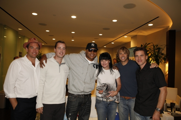 NCIS and NCIS: Los Angeles Stars in the CBS Connect Lounge