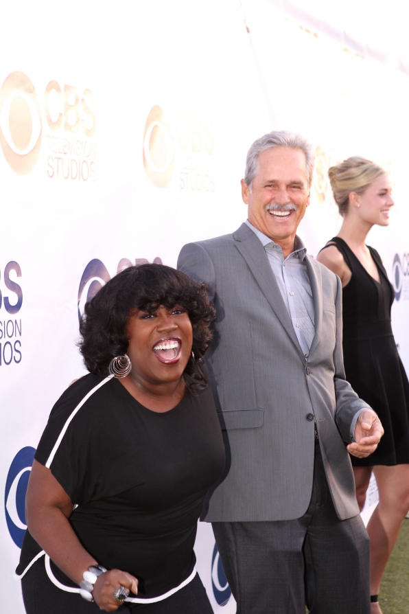 Sheryl Underwood and Gregory Harrison on the CBS Summer Soiree Red Carpet
