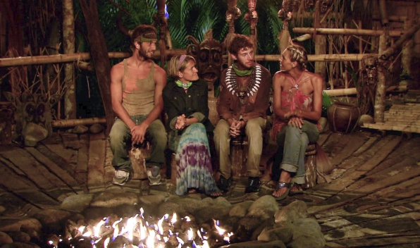 """Sitting at tribal council in the Season 26 Finale """"Last Push"""""""