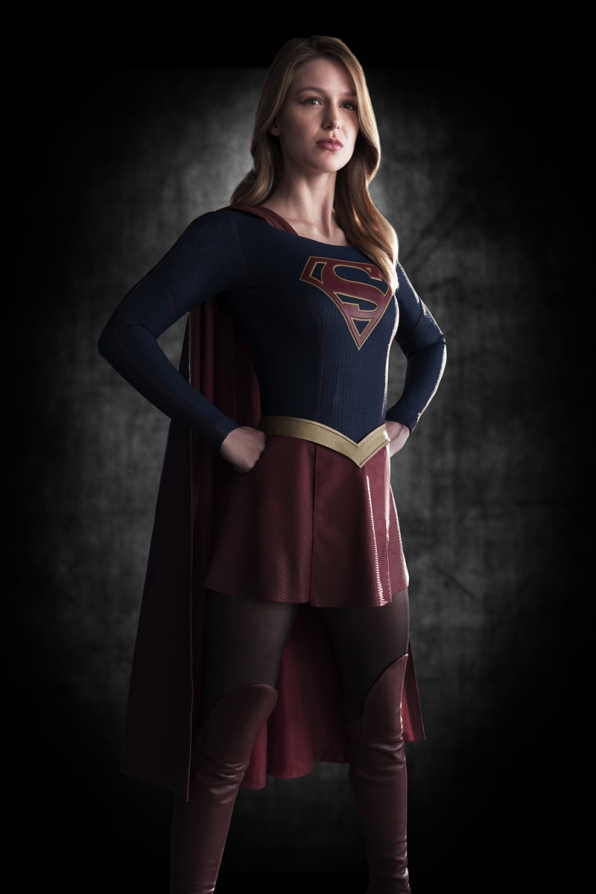 Get a first look at Supergirl's costume.