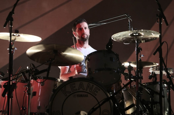 Keane's Drummer Richard Hughes Rehearses