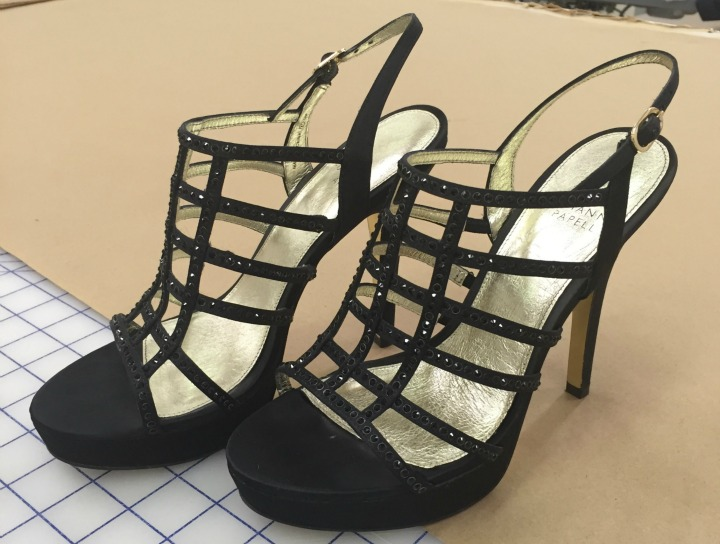 Who wore these strappy heels?