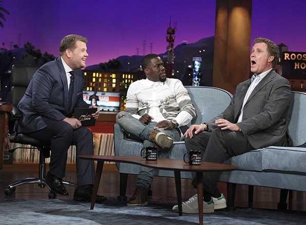 Corden, Hart, and Ferrell talk basketball.