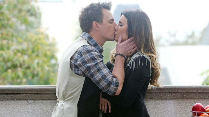 Steffy and Wyatt share a passionate kiss.