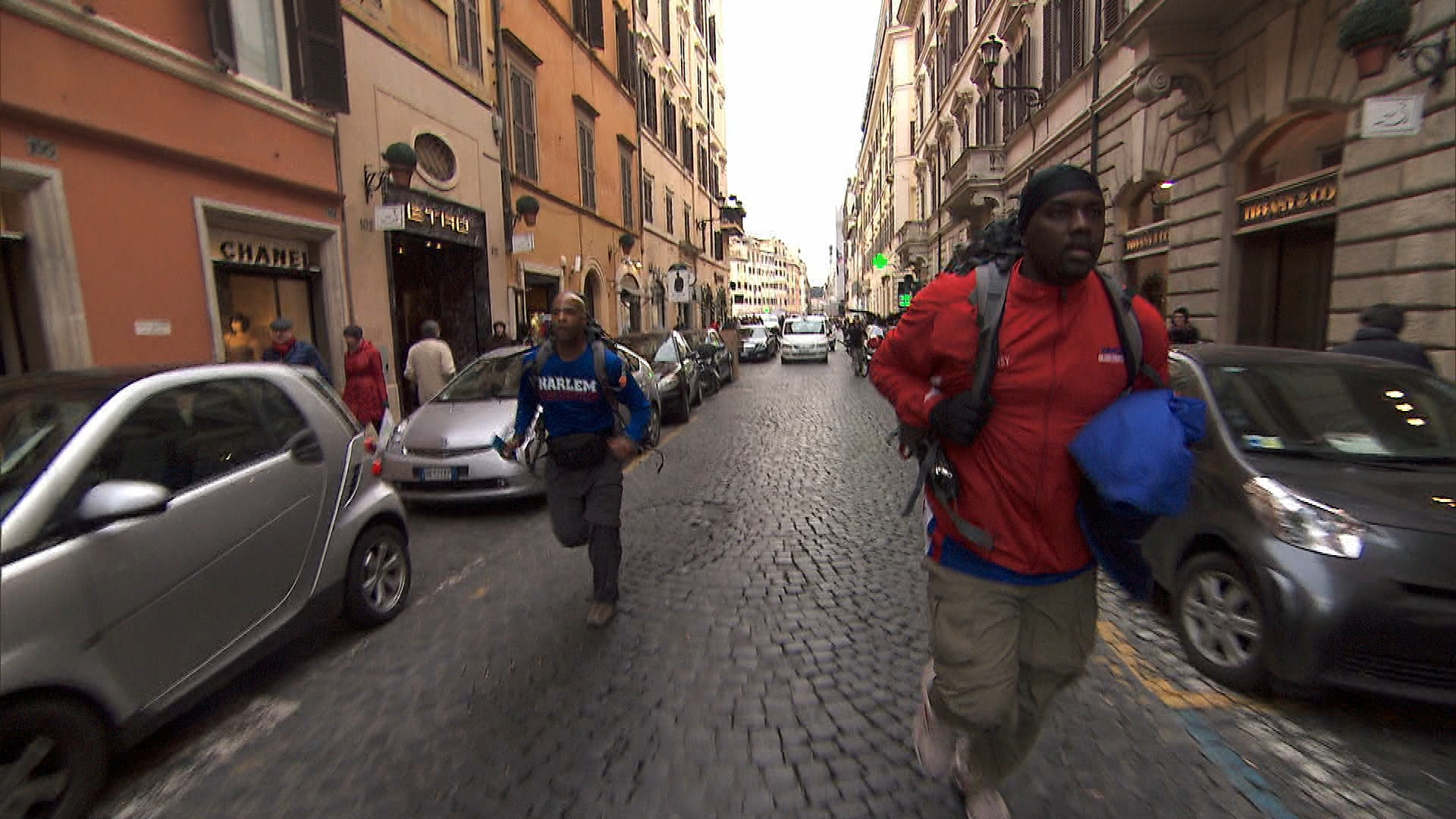 Running through Rome in Season 24 Episode 7