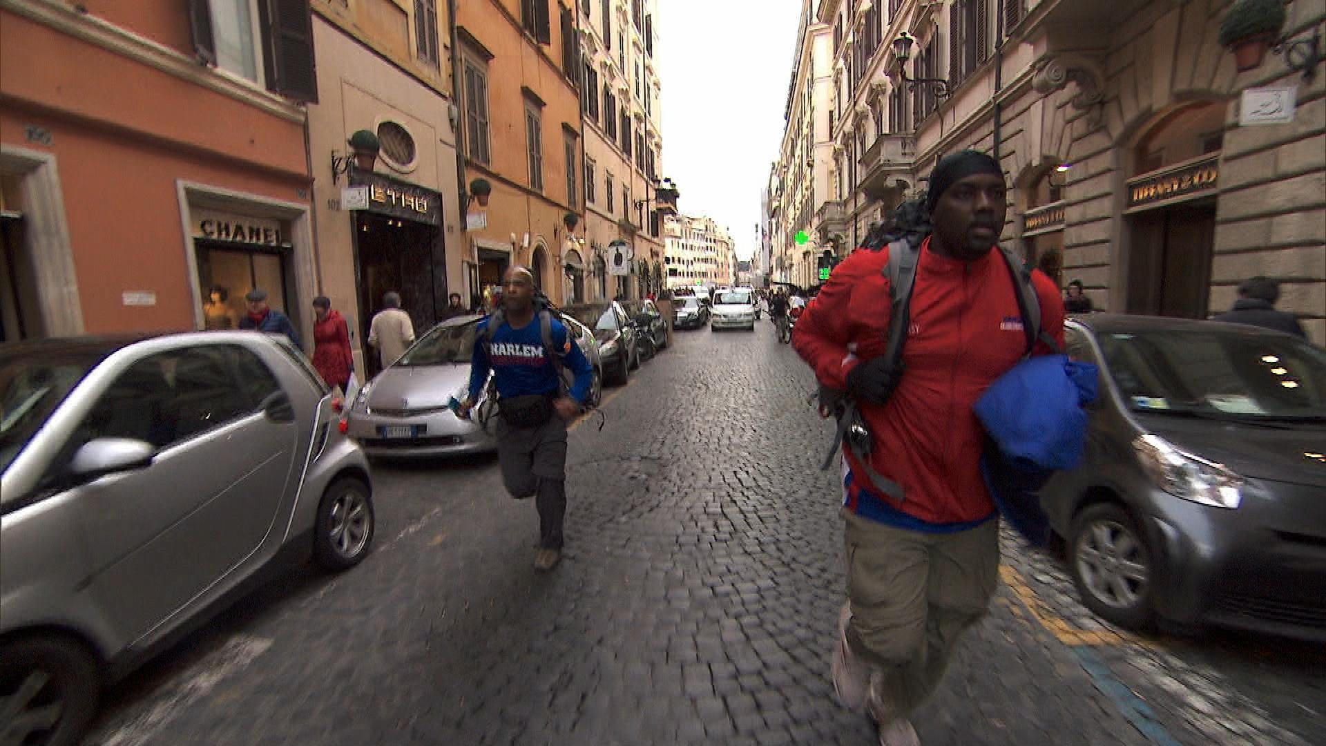 Running through Rome in Season 24 Episode 7