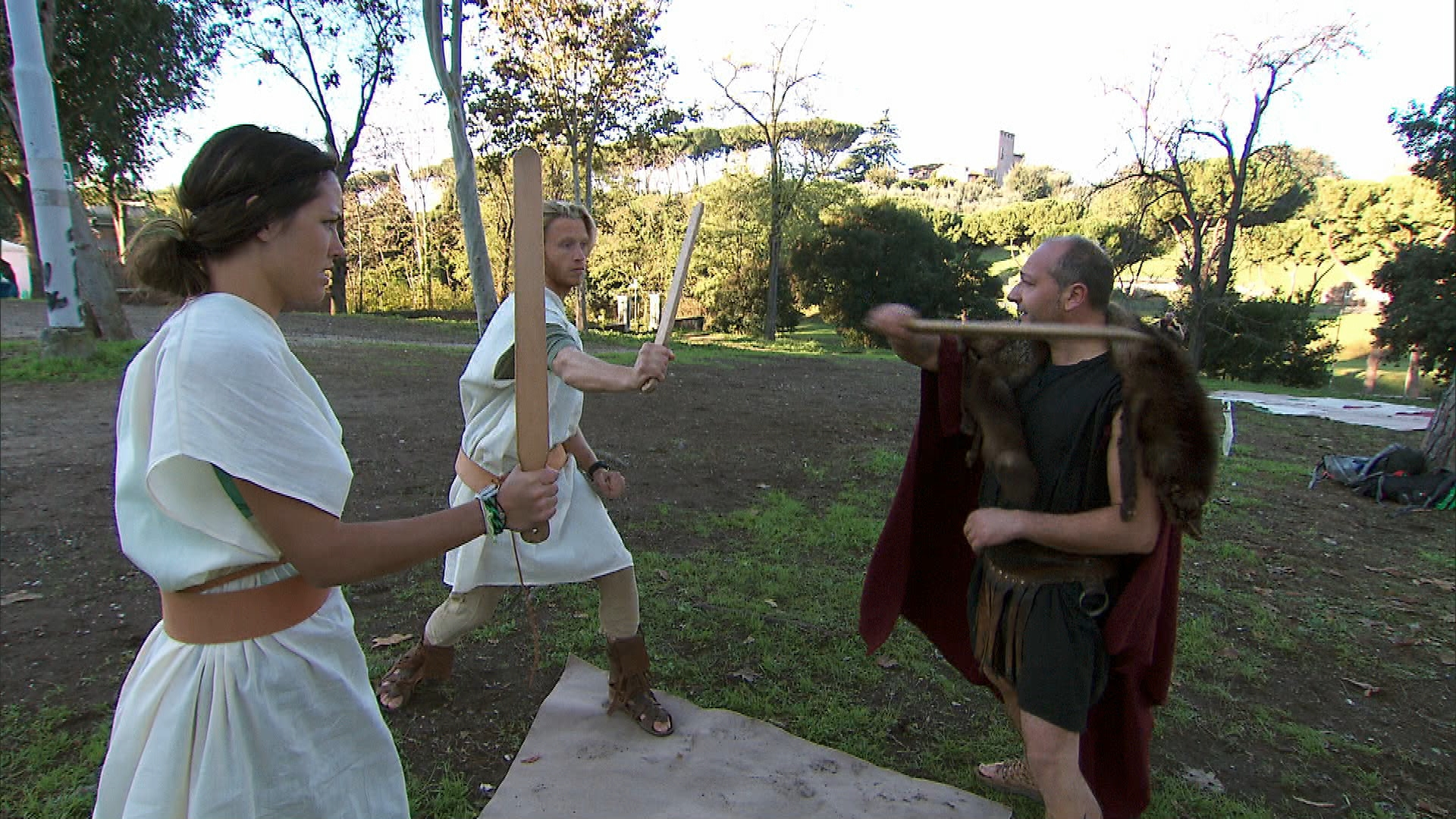 Battling a Gladiator in Season 24 Episode 7