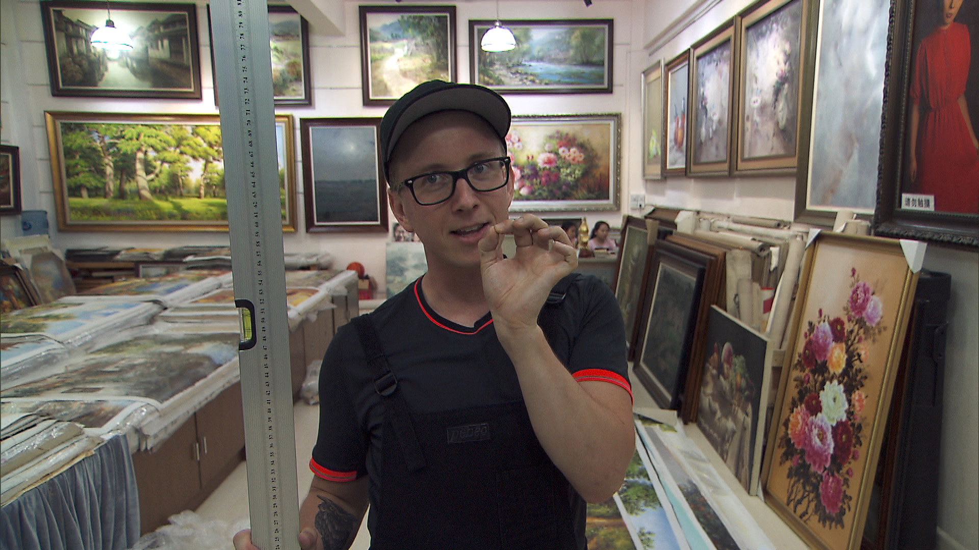 In Detour B, Tyler and Korey must deliver and hang eight paintings.