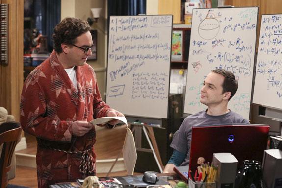 6. Leonard stumbles upon a scientific breakthrough.