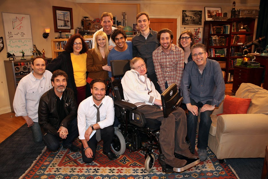 On set with Stephen Hawking