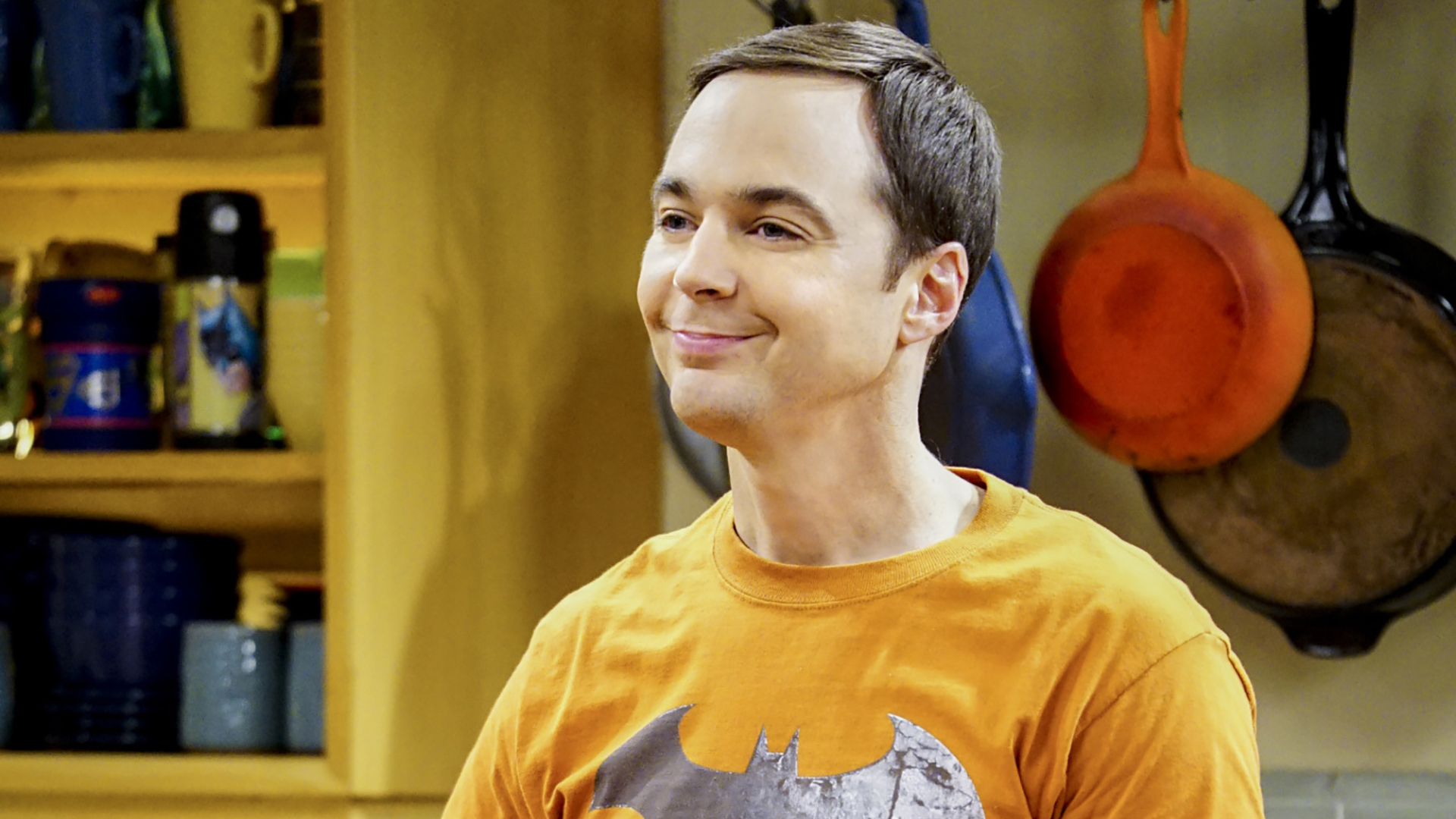 Sheldon appears pleased with himself.