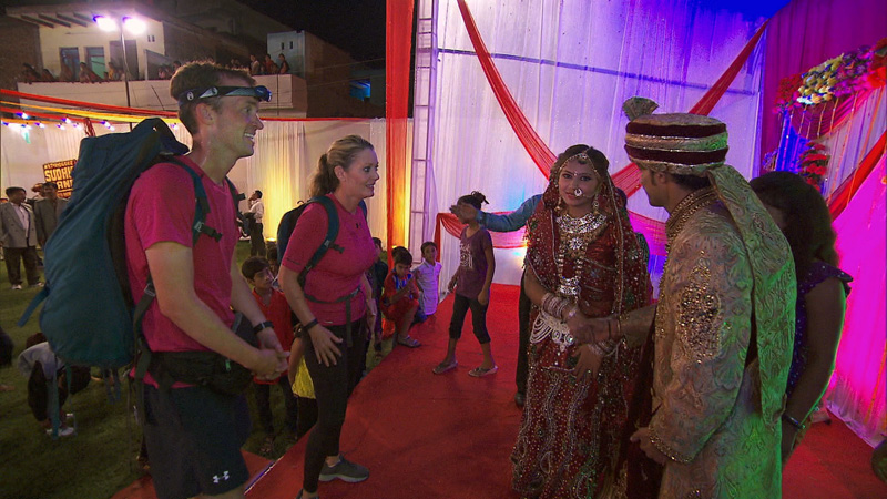 #TeamAlabama join a traditional Indian wedding procession.