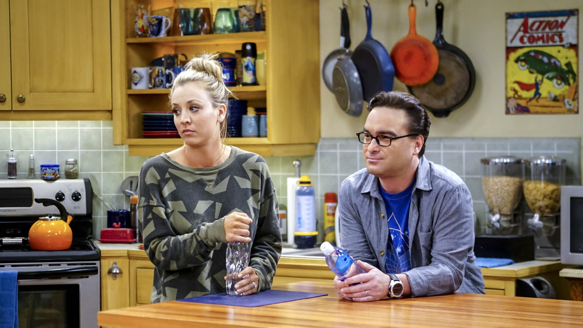 Penny and Leonard are nervous that Sheldon will want to move back in with them.