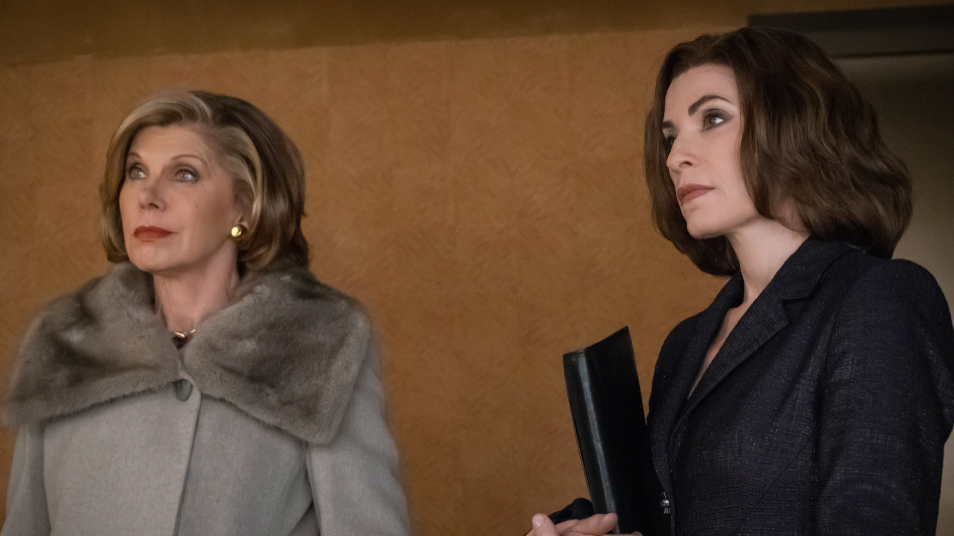 Christine Baranski as Diane Lockhart and Julianna Margulies as Alicia Florrick