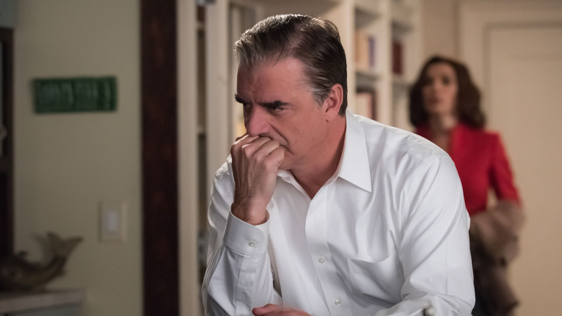 Peter Florrick is concerned as he contemplates his future.