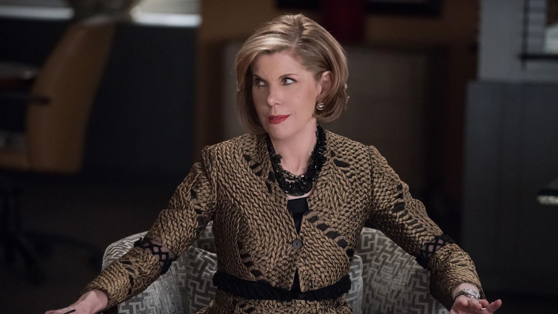 Diane Lockhart throws a knowing look.