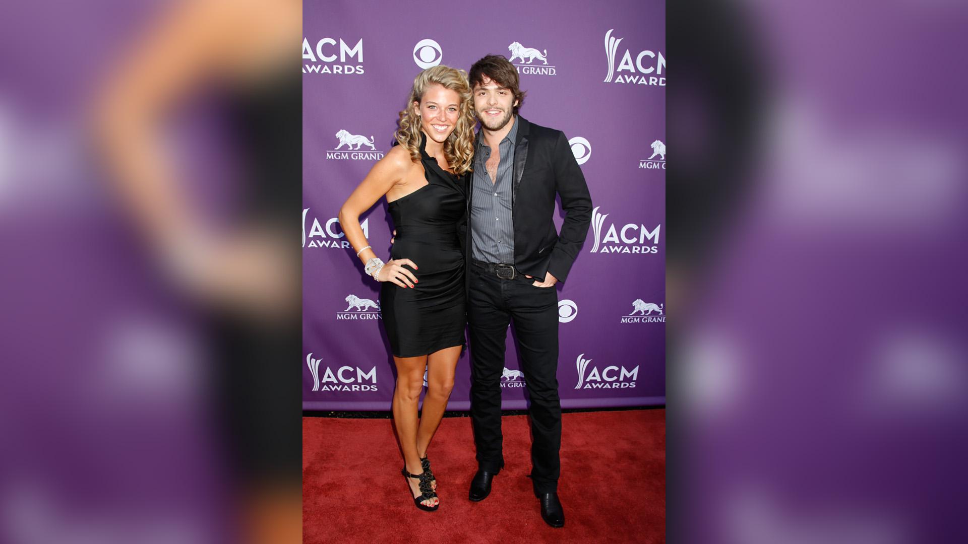 Thomas Rhett poses with his wife, Lauren Akins, in 2012.