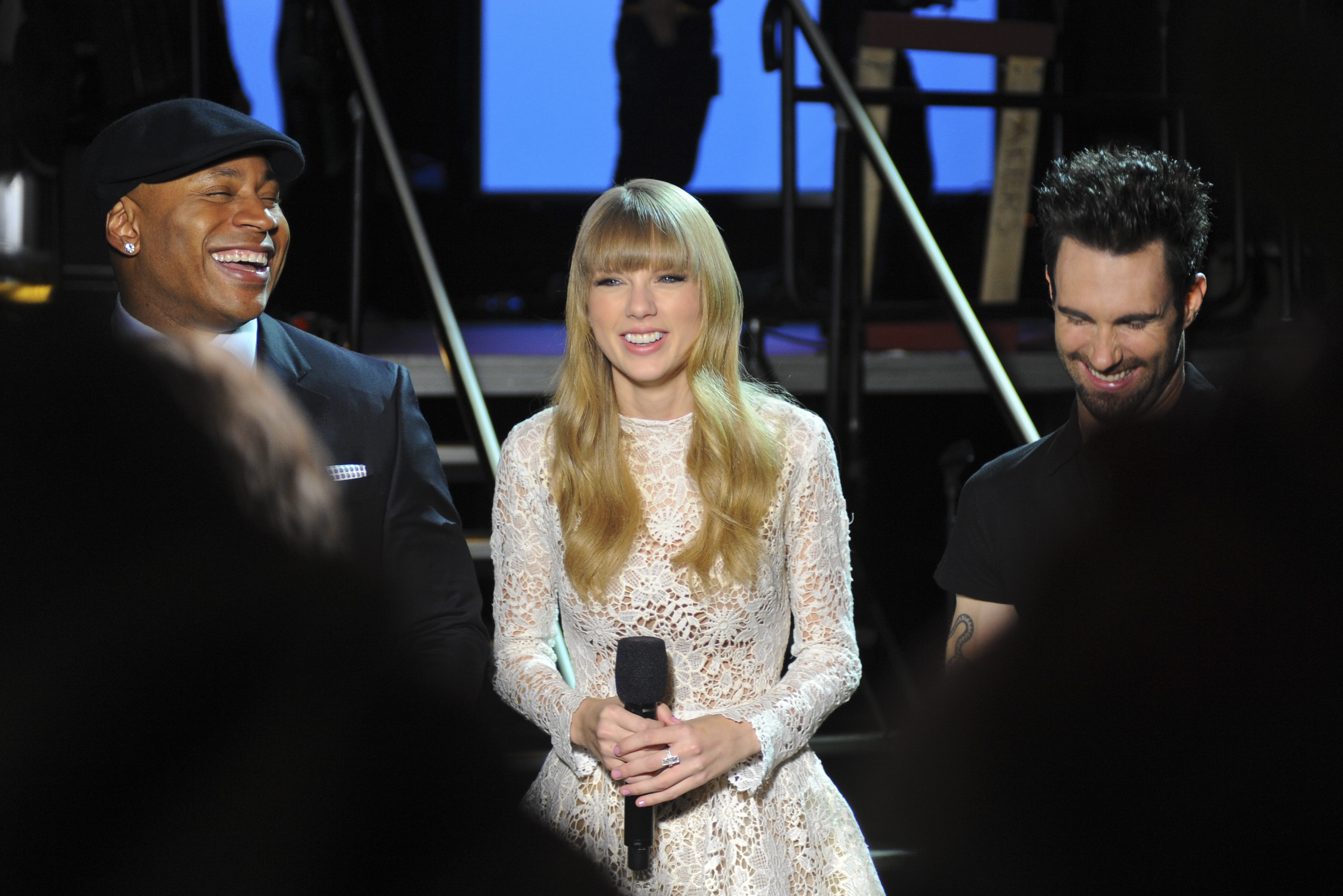 LL Cool J, Taylor Swift and Adam Levine