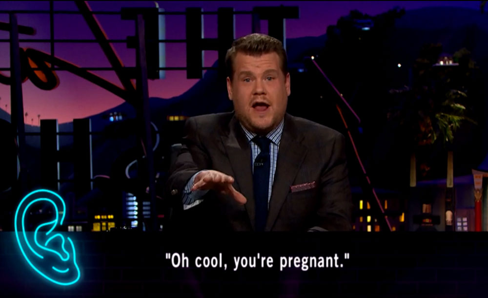Oh cool, you're pregnant.