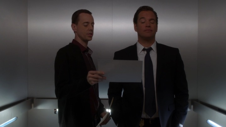 Production filmed the triple homicide crime scene, which Tony and McGee examined in the elevator, but decided not to show it onscreen.