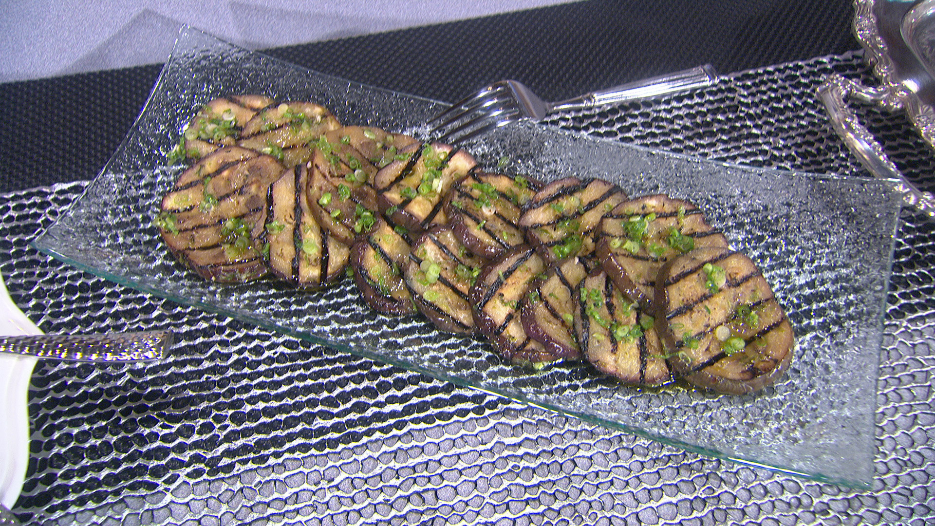 Kris Jenner's Grilled Eggplant with Scallions and Garlic