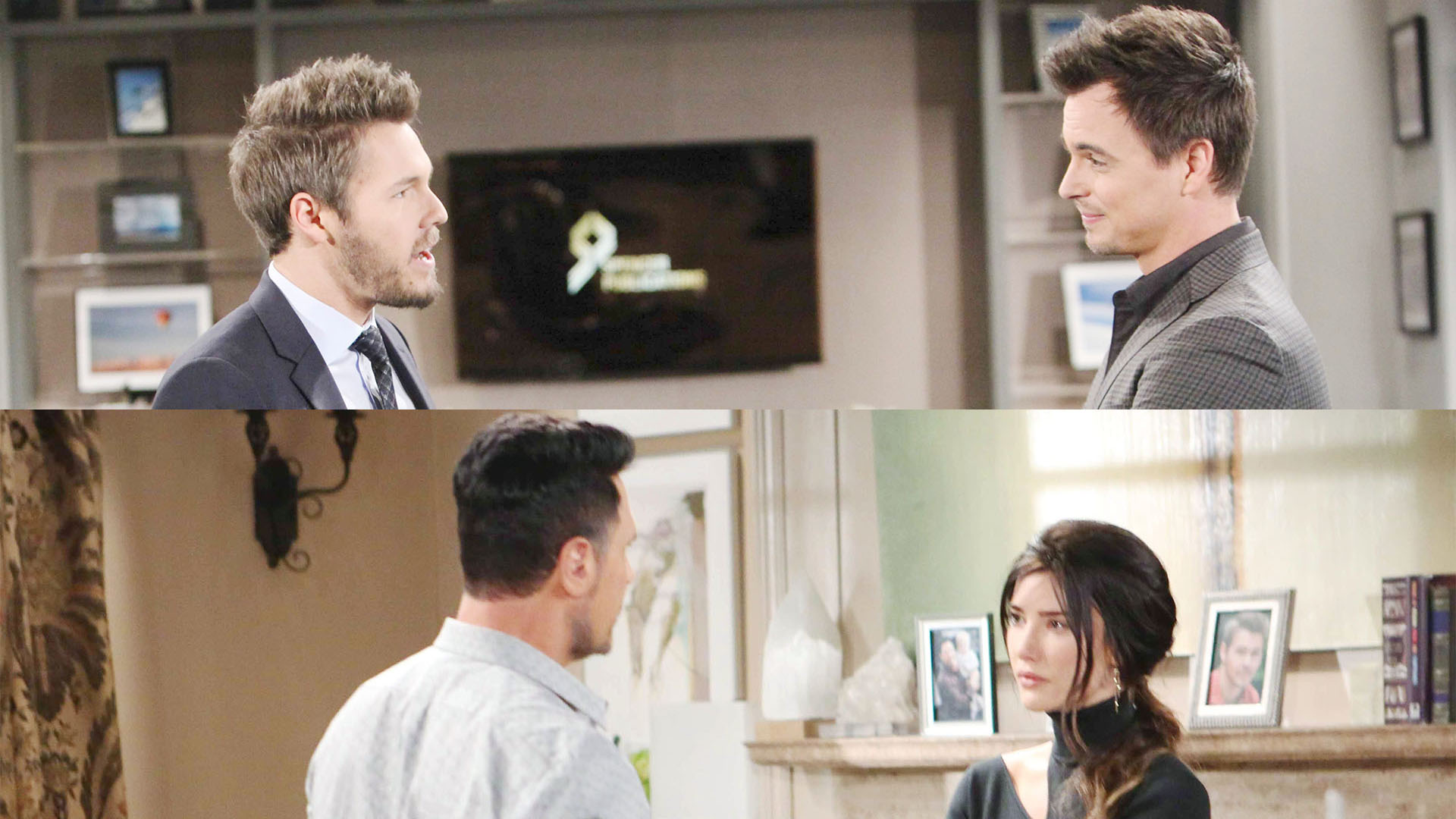 Liam shares his happy news with Wyatt, while Steffy shares her not-so-happy news with Bill.