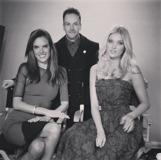 Alessandra Ambrosio, Jonny Lee Miller and Elsa Hosk