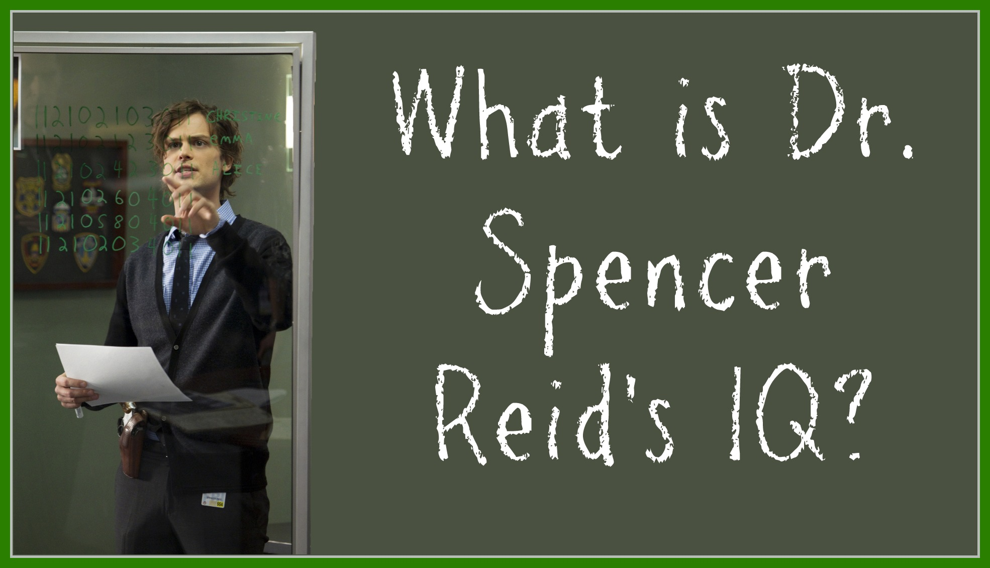 Quiz: How Well Do You Know Dr  Spencer Reid On Criminal