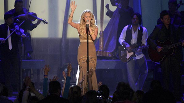 When Carrie Underwood belted out her debut smash.
