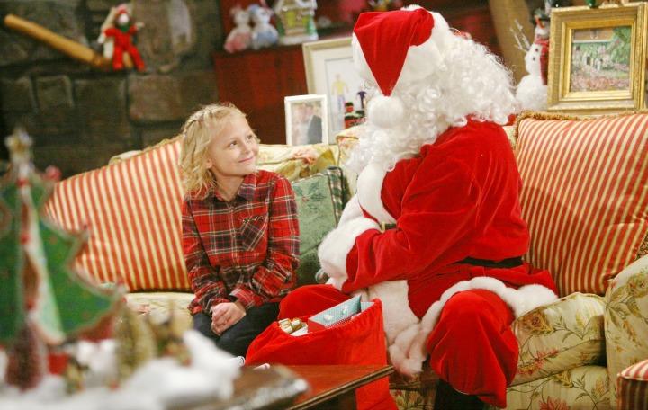 Santa makes a surprise visit.
