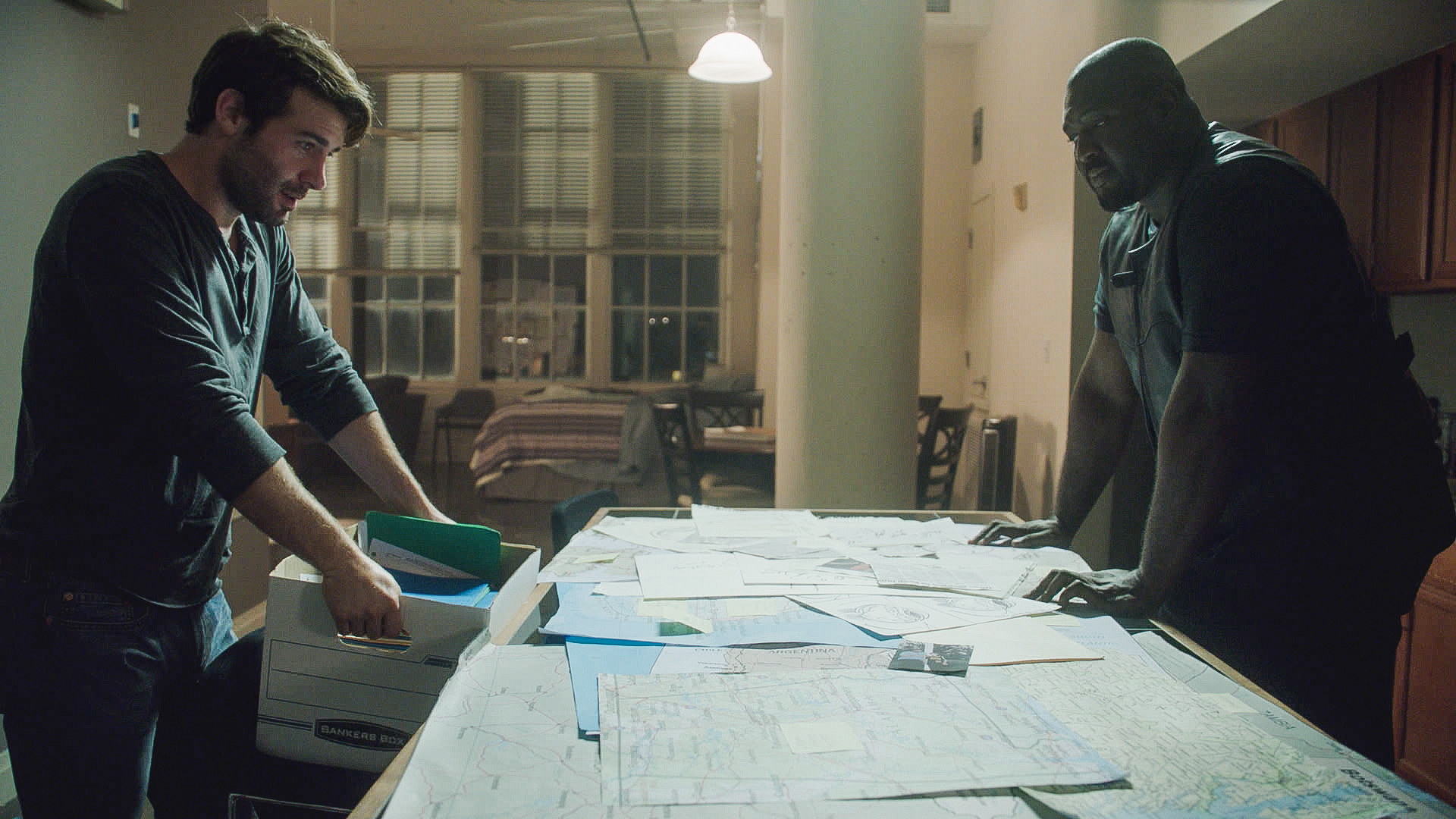 James Wolk as Jackson Oz and Nonso Anozie as Abraham Kenyatta.