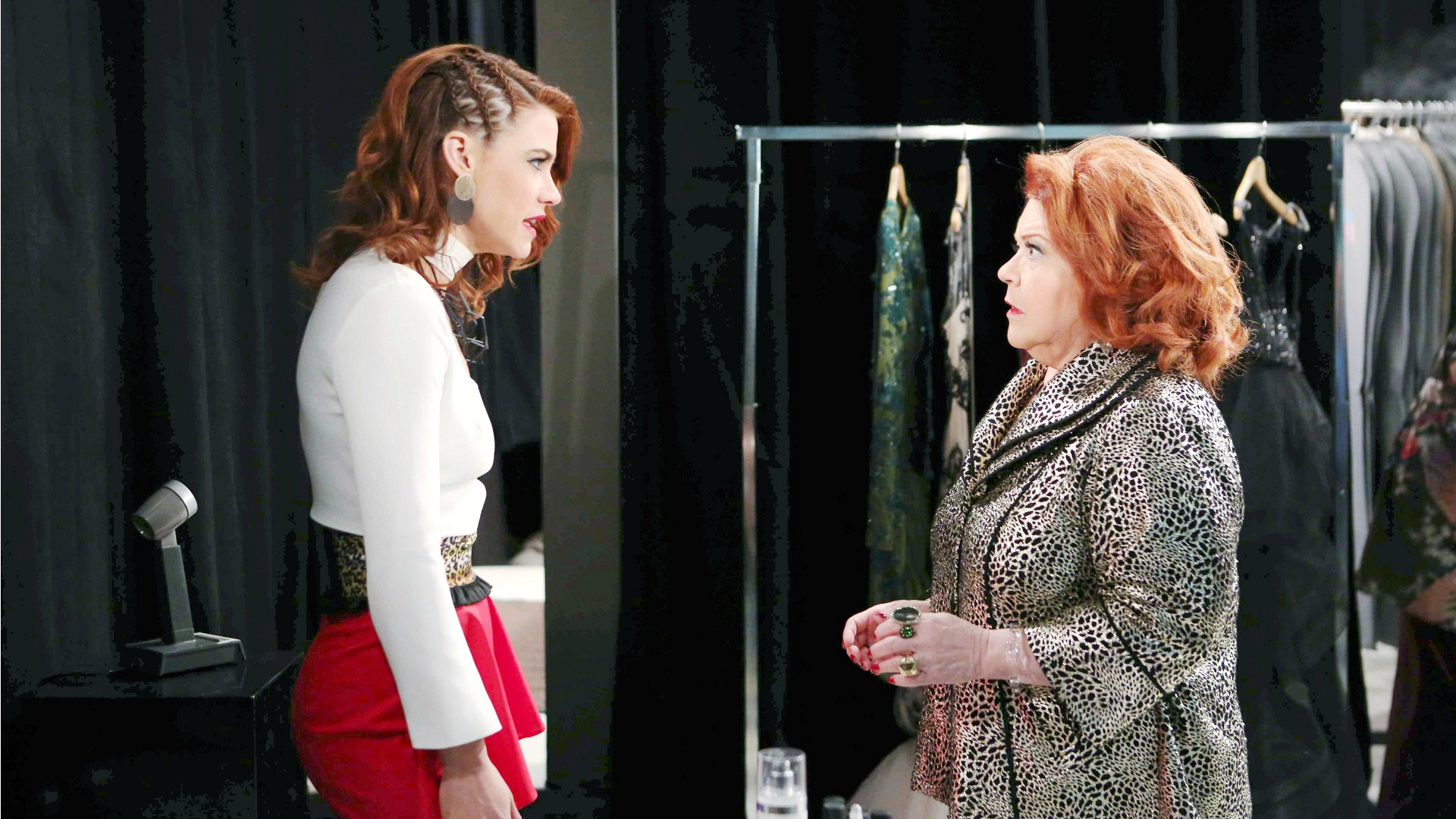 Sally confronts Shirley about using Coco to obtain the Forrester's sketches.