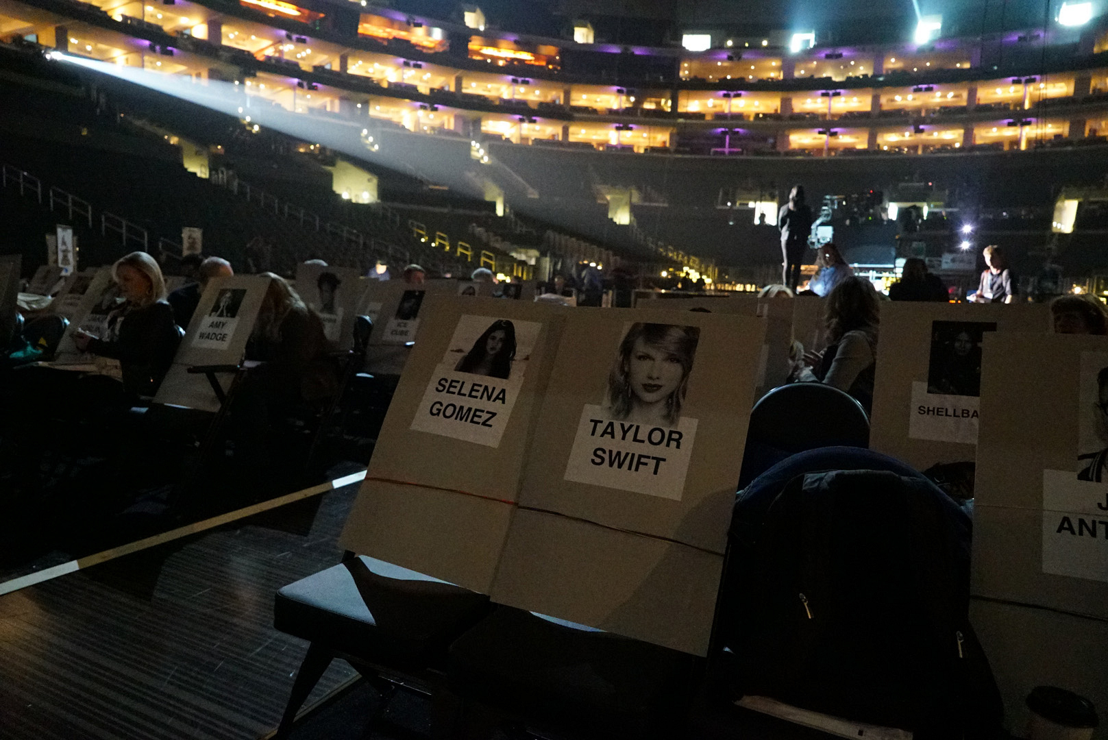 Gal pals Selena Gomez and Taylor Swift will be dancing from these seats.