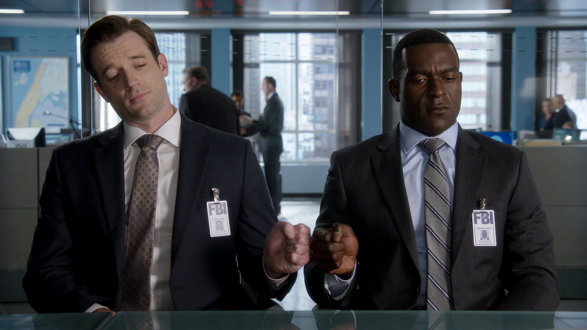 Tom Degnan as Agent Ike and Michael James Shaw as Agent Mike