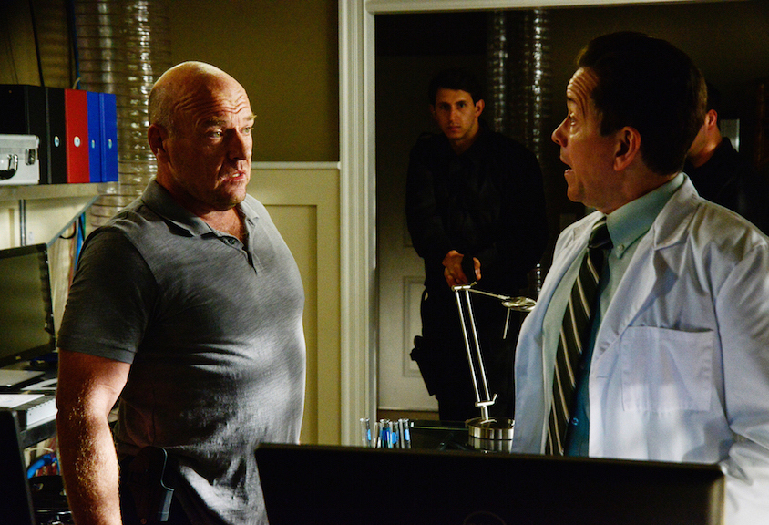 "Dean Norris as James ""Big Jim"" Rennie and Frank Whaley as Dr. Marston Brownie."