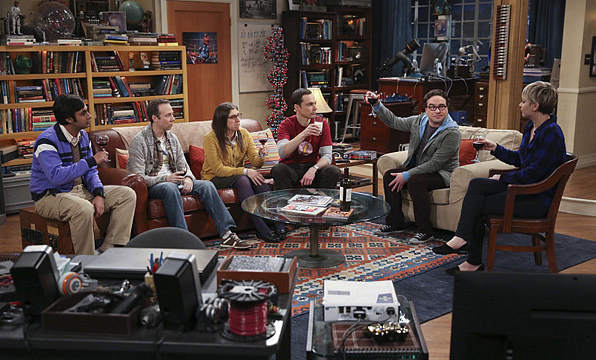 2. Sheldon and Leonard's couch on <i>The Big Bang Theory</i>