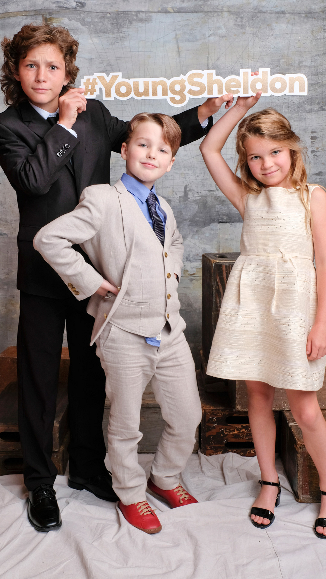 Montana Jordan, Iain Armitage, and Raegan Revord of Young Sheldon