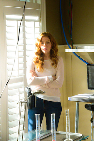 Pictured Rachelle Lefevre as Julia Shumway.