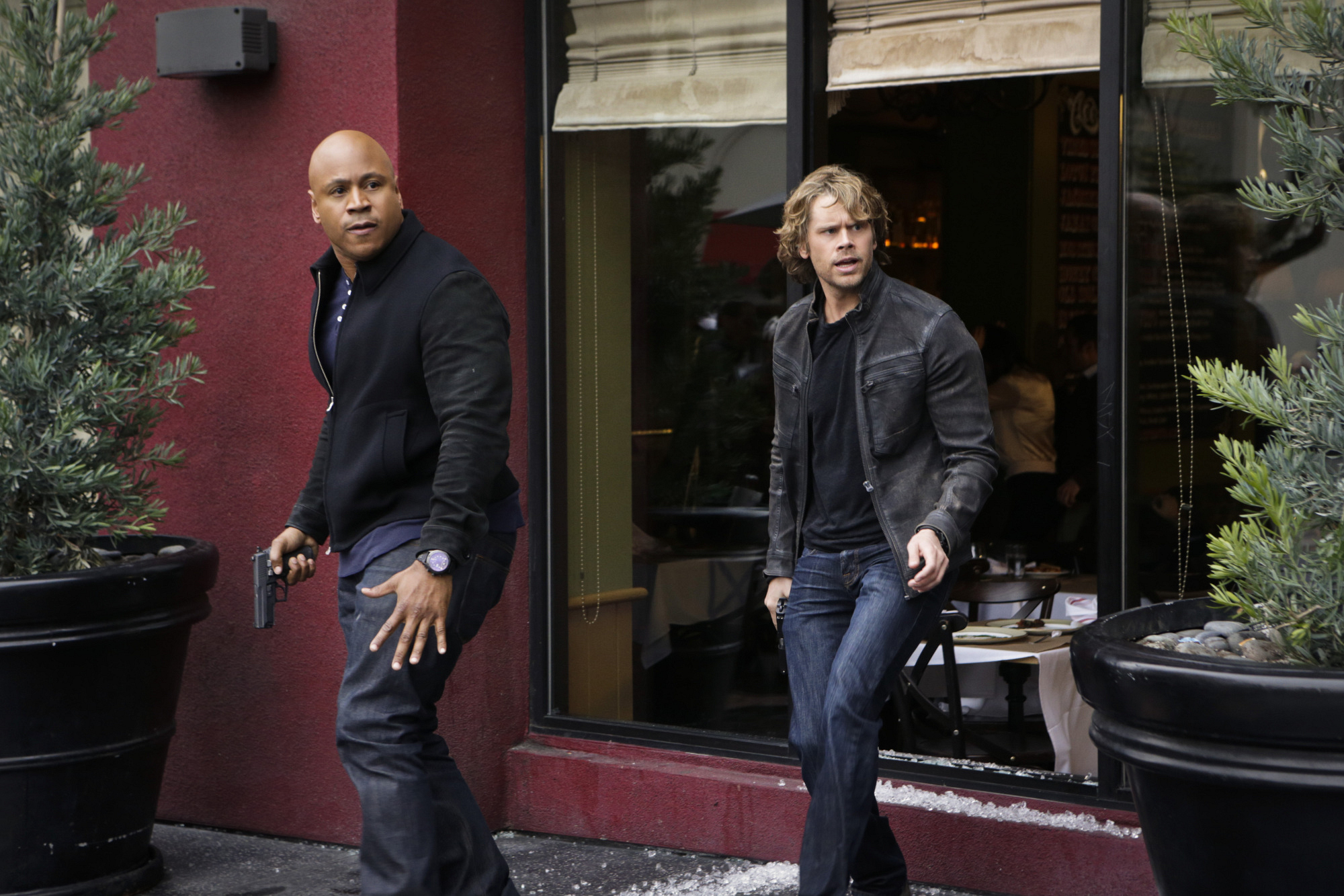 LL COOL J as Special Agent Sam Hanna and Eric Christian Olsen as LAPD Liaison Marty Deeks