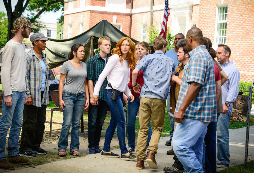 Rachelle Lefevre as Julia Shumway and Colin Ford as Joe.