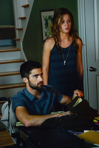Max Ehrich as Hunter May and Mackenzie Lintz as Norrie Calvert-Hill.
