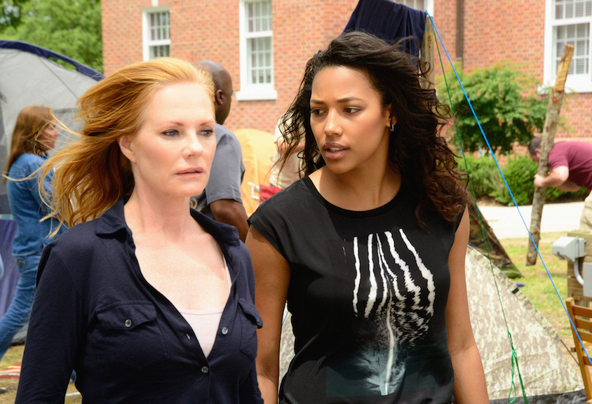 Marg Helgenberger as Christine Price and Kylie Bunbury as Eva Sinclair.