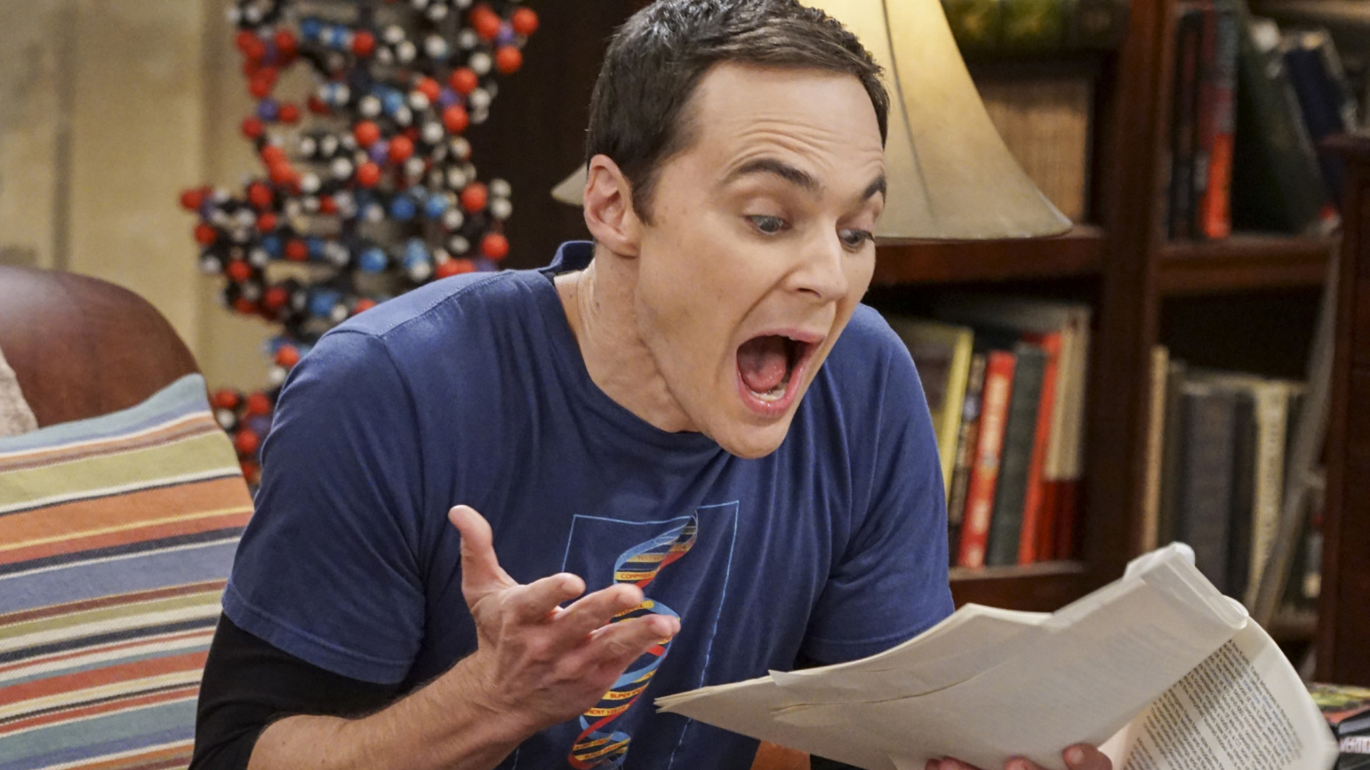 Sheldon freaks out over Bert's work.