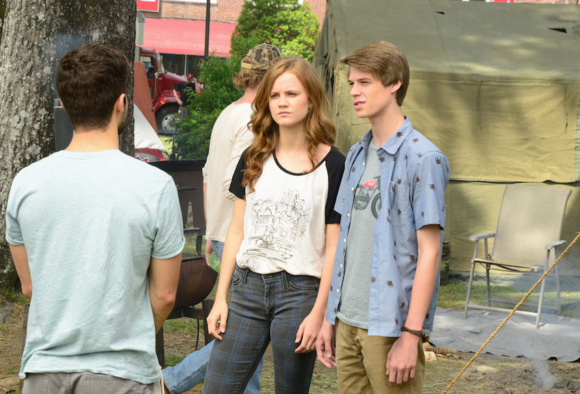 Mackenzie Lintz as Norrie Calvert-Hill and Colin Ford as Joe McAlister.
