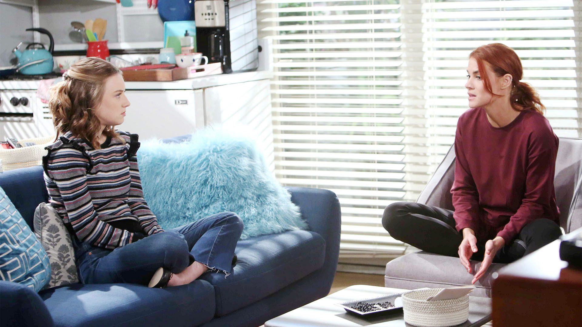 Sally confesses to Coco about Liam buying the Spectra building and gifting it to her.