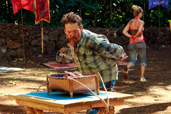 "Rick During Immunity/Reward Challenge ""Pig Out"""